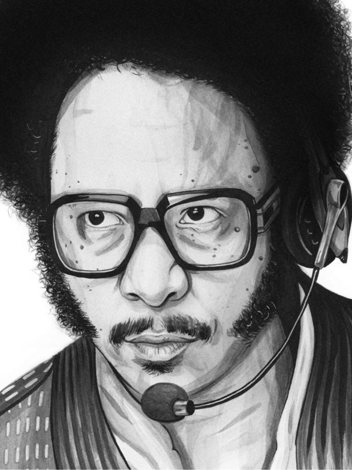 Illustration of Boots Riley
