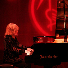 Marilyn Crispell at piano on stage