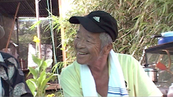 Elder Homeless Japanese Man Smiling