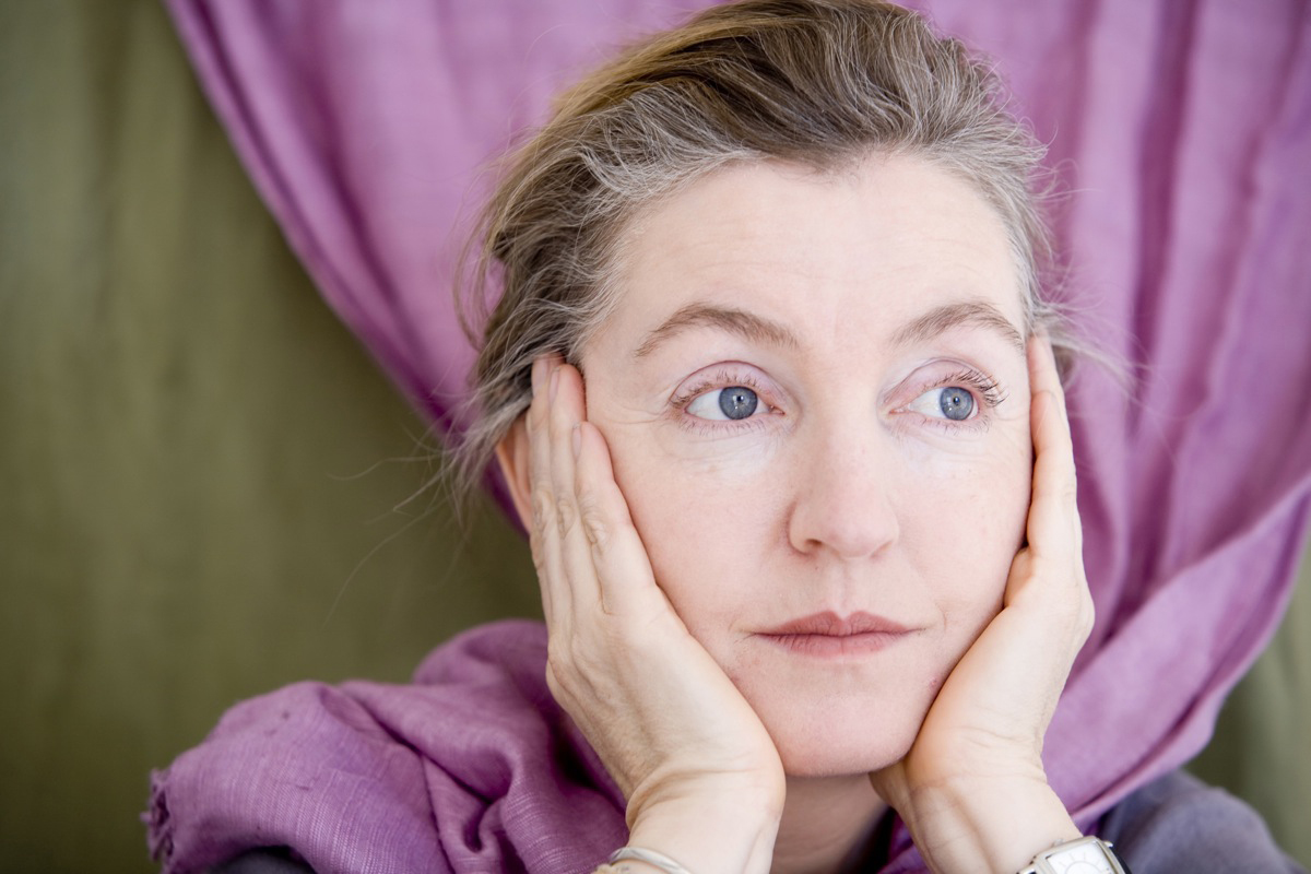 Rebecca Solnit with Hands on Face