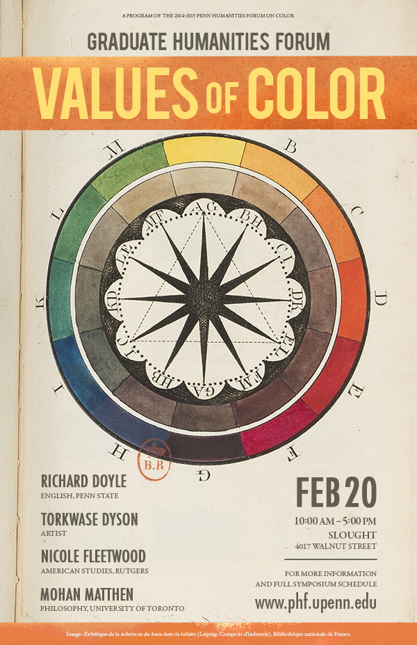 Color Wheel with Values of Color Text
