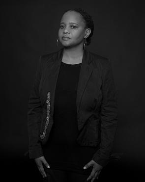black and white portrait of writer Edwidge Dandicat