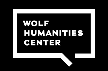 white Wolf Humanities Center logo on black