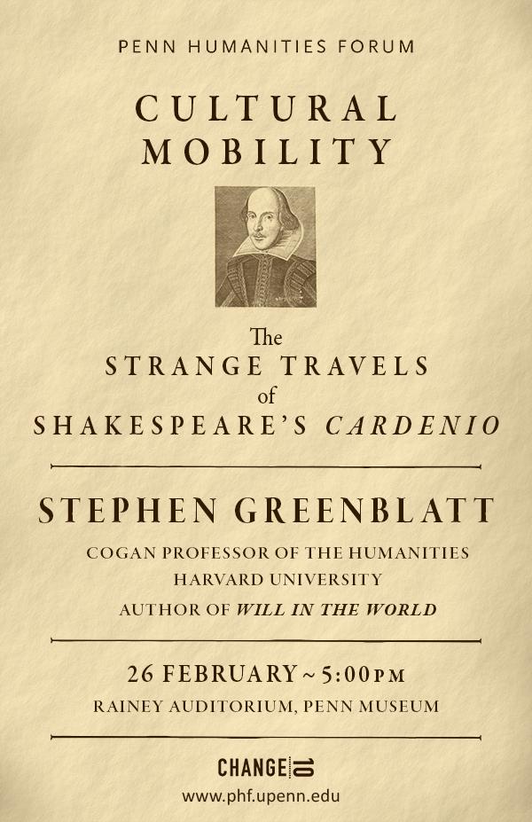 Stephen Greenblatt_Cultural Mobility_Poster