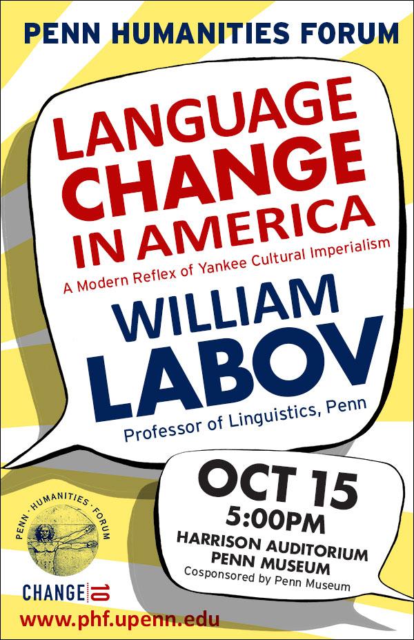 William Labov_Language Change_Poster