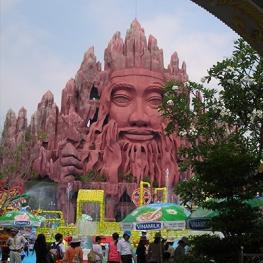 Photo of a Buddhist theme park