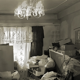 Image of hoarding in a living room