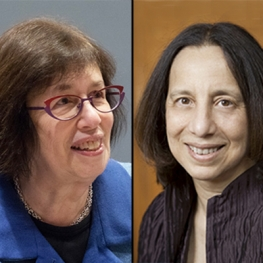 Headshots of Linda Greenhouse and Reva Siegel