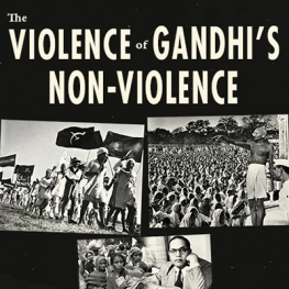 poster for event with Ania Loomba on The Violence of Gandhi's Non-Violence