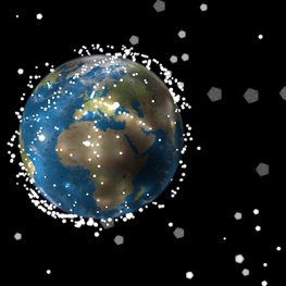 Illustration of Space Debris