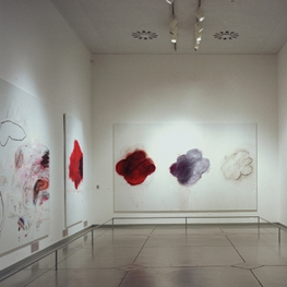 Gallery with Cy Twombly's paintings