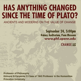 Poster for event with Alexander Nehamas