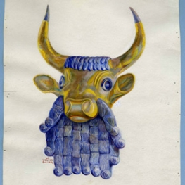 Blue and Gold Bull