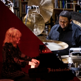 Tyshawn Sorey at drums and Marilyn Crispell at piano